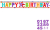 Amscan - Holographic Foil Banner - Add An Age - Happy Birthday