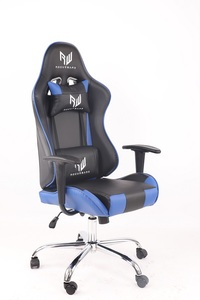 RogueWare XL-0019 Series Black/Blue Racer Gaming Chair - Cover