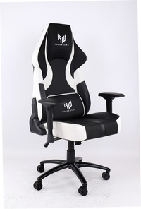 RogueWare XL-1315 Series Black/White Rally Gaming Chair - Cover