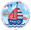 Unique Party 18 inch Nautical 1st Birthday Foil Balloon Cover