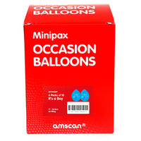 Amscan - Minipax Balloons - Birthday Boy - Box
