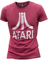 Atari - Chest Logo - Men's T-Shirt - Red (Small)