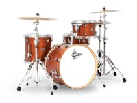 Gretsch Catalina Club Series 4pc Shell Pack Acoustic Drum Kit - Satin Walnut Glaze (14 12 14 20 Inch) - Cover
