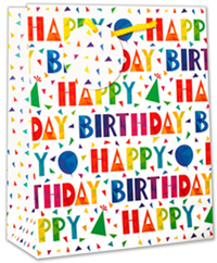 Simon Elvin - Contemporary Font Happy Birthday Gift Bags (Large) - Cover