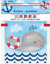 Unique Party - Nautical 1st Birthday Block Banner - 12 Feet