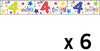 Simon Elvin - Foil Banner - Age 4 (Pack of 6)