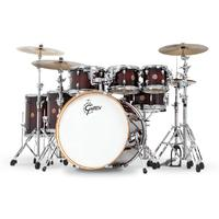 GretschCatalina Maple Series 7pc Shell Pack Acoustic Drum Kit - Deep Cherry Burst (14 8 10 12 14 16 22 Inch)
