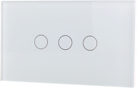 LifeSmart - Smart Light Switch 3 lines - Socket 118/120 - White (Requires LifeSmart – Station to operate – Sold Separately) - Cover