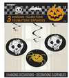 Unique Party - Checkered Halloween Hanging Swirls - 26 inch (Pack of 3)