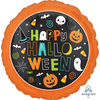 Anagram - 18 inch Circle Foil Balloon - Happy Halloween