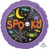 Anagram - 18 inch Circle Foil Balloon - Halloween Spooky Web & Spiders