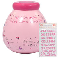 Pots Of Dreams - Personalised (Ballet With Pink Glitter Stickers)