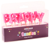 Kaleidoscope - Happy Birthday Pick Candles - Pink (Pack of 6)