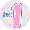Expression Factory - My 1st Birthday - Girl - Badge (Giant)