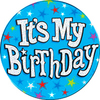 Expression Factory - It's My Birthday - Blue - Badge (Giant)
