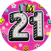 Expression Factory - Age 21 - Girl - Badge (Giant)