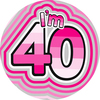 Expression Factory - Age 40 - Girl - Badge (Giant)