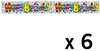 Expression Factory - Holographic Foil Banner - Birthday Rainbow Stripe (Pack of 6)