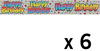 Expression Factory - Holographic Foil Banner - Birthday Pastels (Pack of 6)