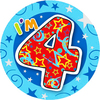 Expression Factory - I Am 4 - Boy - Badge (Giant)