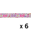 Expression Factory - Holographic Foil Banner - Age 60 - Female (Pack of 6)