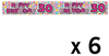 Expression Factory - Holographic Foil Banner - Age 30 - Female (Pack of 6)