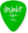 Dunlop 486PML Gels Medium Light Guitar Pick (Green)