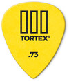 Dunlop 462P Tortex TIII 0.73mm Guitar Pick (Yellow)
