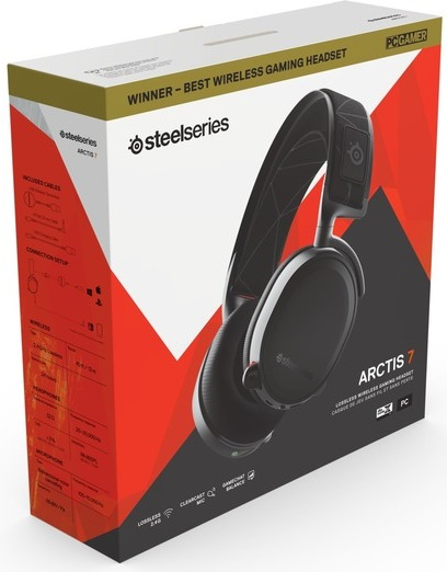 c2ff6a6a206 SteelSeries Arctis 7 Wireless 7.1 Gaming Headset - 2019 Edition - Black (PC/ PS4
