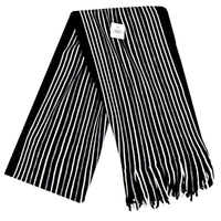 Scarf - Black / White Stripes - Cover