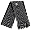 Scarf - Black / White Stripes