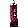 Scarf - Pink/Black Dots (Reversible)