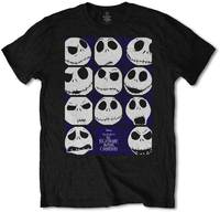 Nightmare Before Christmas Blockheads Men's Black T-Shirt (XX-Large) - Cover