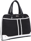 Black Casual Ladies 15.6 Inch Notebook Bag - Black and White