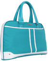 Black Casual Ladies 15.6 Inch Notebook Bag - Teal and White