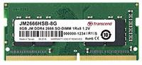 Transcend 8GB DDR4 2666MHz SO-DIMM 1rx8 1gx8 CL19 1.2v Memory Module - Cover