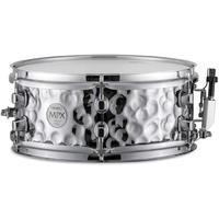Mapex MPX Series 12x5 Inch Hammered Steel Snare Drums (Chrome)