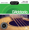 D'Addario EXP23 16-70 EXP Coated Phosphor Bronze Baritone Acoustic Guitar Strings