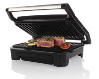 """Mellerware - Panini Press - 2 Slice Stainless Steel Black Grill Plate 800w """"Compacto"""" - Cover"""