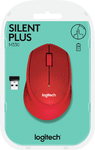 Logitech - M330 Silent Cordless Notebook Optical Mouse - Red
