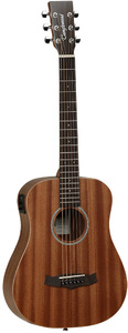 Tanglewood TW2 TE Winterleaf Series Travel Size Acoustic Electric Guitar (Natural) - Cover