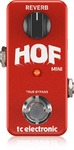 TC Electronic HOF Hall of Fame Mini Electric Guitar Reverb Effects Pedal (Red)