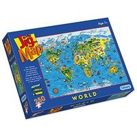 Gibsons - Jigmap World/Children's Puzzle (250 Pieces)