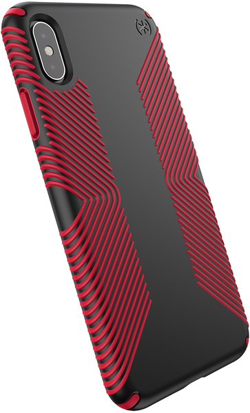 wholesale dealer 84774 19bc4 Speck Presidio Grip Series Case for Apple iPhone XS Max - Black and Dark  Poppy Red