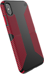 Speck Presidio Grip Series Case for Apple iPhone XS Max - Black and Dark Poppy Red