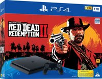 Sony PlayStation 4 Slim Console PS4 1TB Red Dead Redemption II Bundle (PS4)