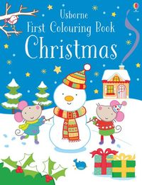 First Colouring Book Christmas - Jessica Greenwell (Paperback) - Cover