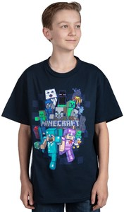 Minecraft - Crafty Cluster - Youth T-Shirt - Navy (13-14 Years) - Cover