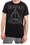 Harry Potter - Deathly Hallows - Mens Crew Neck T-Shirt - Black (Large)
