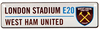 West Ham United F.C. - 3D Window Hanging Sign
